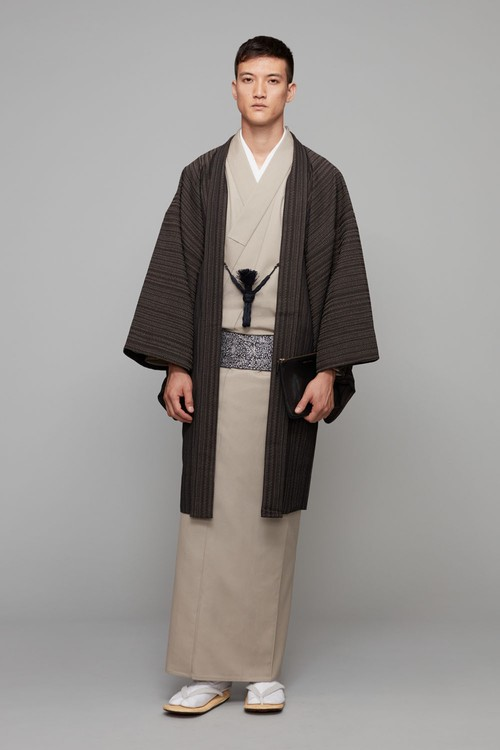 羽織 / 西陣お召 / 柳縞 / Brown(With tailoring)