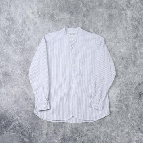 【MANUAL ALPHABET】SUPIMA OX BAND COLOR SHIRT(STRIPE) マニュアルアルファベット スーピマオックスバンドカラーシャツ