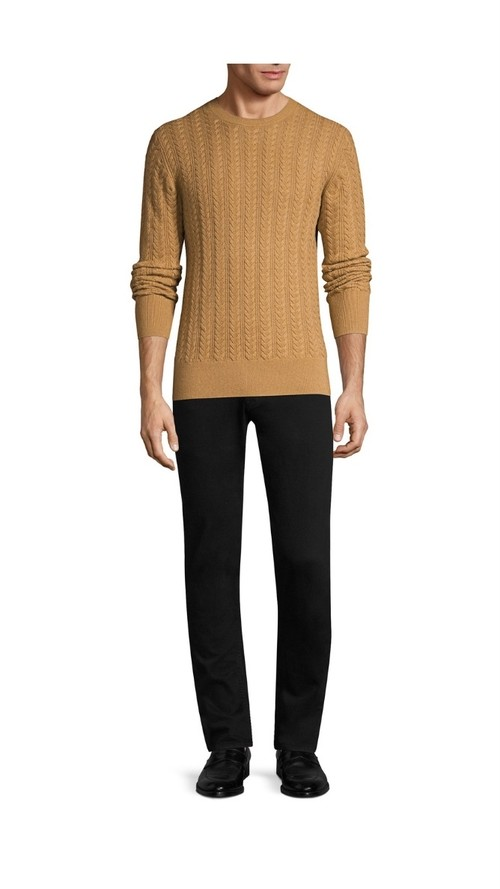 BURBERRY(バーバリー) Core Cashmere Cable Knit Sweater