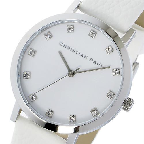 クリスチャンポール CHRISTIAN PAUL HAYMAN LUXE 35mm レディース 腕時計 SWL-03 シルバー/ホワイト ホワイト