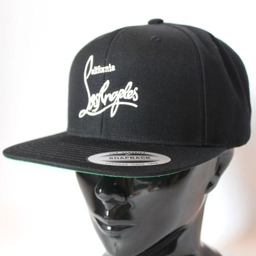 カリフォルニアロサンゼルス/CAP/キャップ/ブラック×ホワイト
