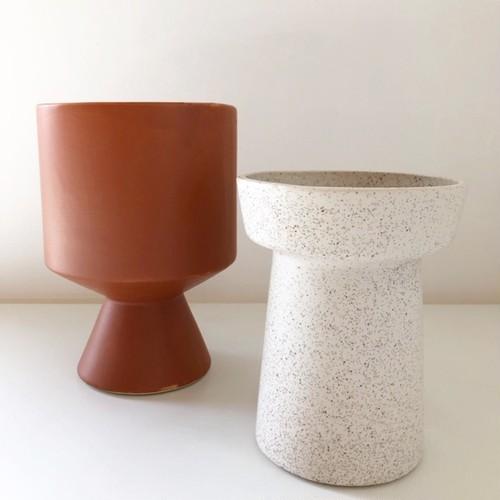 """ceramic pot """"BERTA"""" /Brown 鉢カバー"""