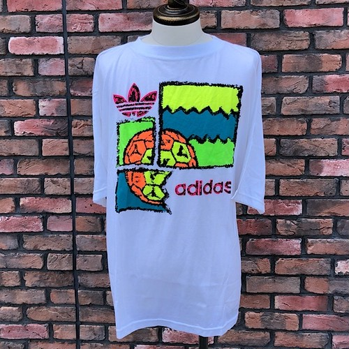 1990s Deadstock Adidas T-Shirt 44/46 White