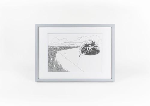 【原画】町田洋「二人の男は旅を終えると、岩絵の中に入っていった」No.2
