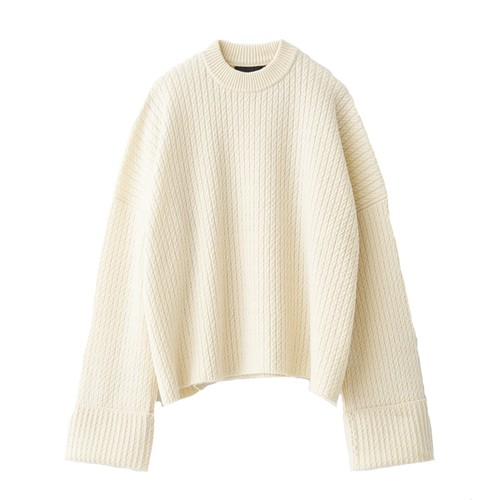 BOTTLE NECK OVER    KNIT (JUHA)