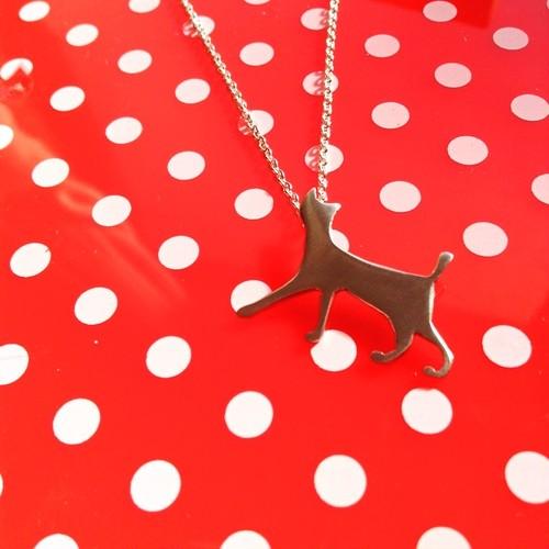 ねこネックレス  シルバー silver cat necklace