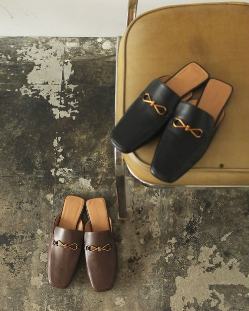 TODAYFUL トゥデイフル Leather Slide Loafers  チョコ 12021022