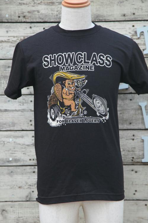 SHOW CLASS MAGAZINE(ショークラスマガジン)Sシャツ Lサイズ ビーバーチョッパー黒【BIK-t-09】