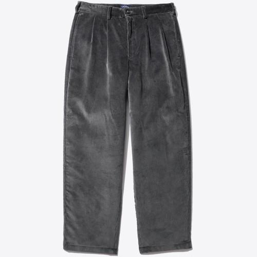 Double-Pleat Corduroy Trouser(Grey)