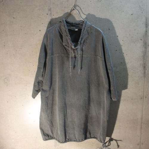 Cotton Draw Cord Pullover Shirt