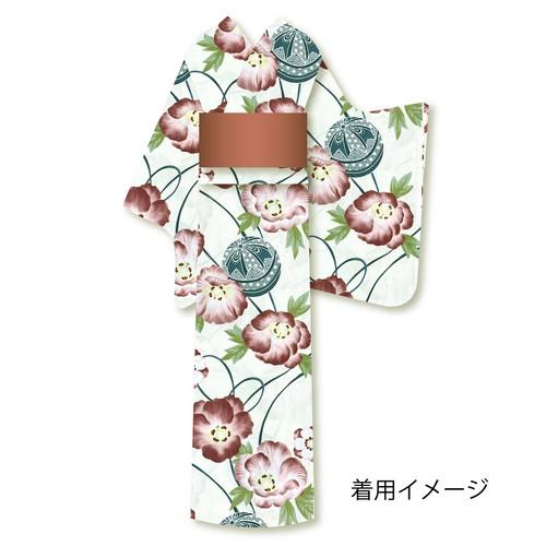 仕立上り浴衣⑲花と鞠柄
