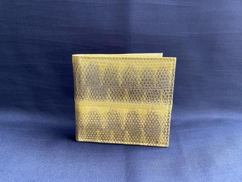 二つ折れ財布(小銭入れ付き) 黄