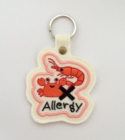 甲殻類アレルギー表示■キーホルダー■エビ・カニ■