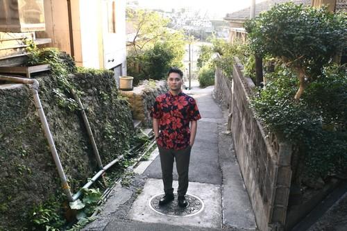 Mountain Men's ボタンダウンアロハシャツ /  Hibiscus