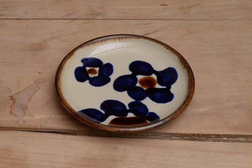 エドメ陶房 5寸皿花紋 1712EDM-7