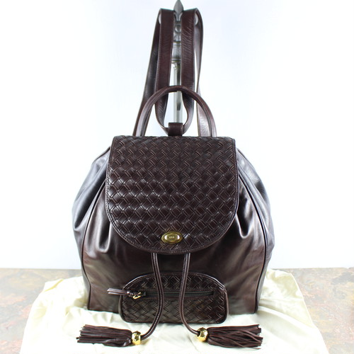 .BALLY MESH LEATHER RUCK SUCK MADE IN ITALY/バリーメッシュレザーリュックサック 2000000048864