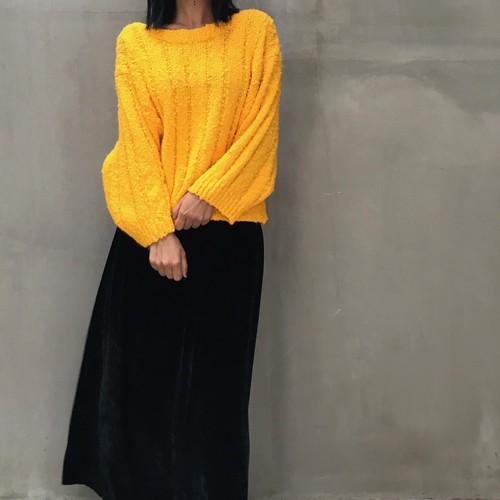 Vintage yellow acrylic knit