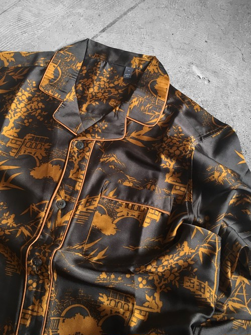 patterned  satin pajamas shirt