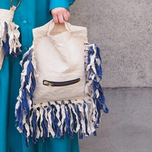 【sandglass】fringe tote bag