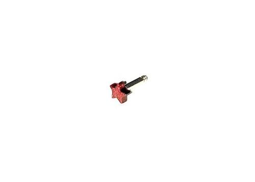 "STAR★バーベル RED (ピアス)・Straight barbell ""RED STAR""(ear piercing)"