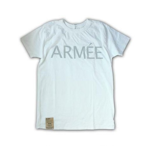 "afterdark / アフターダーク |【SALE!!】""ARMEE"" print D-Pocket Tee - White"