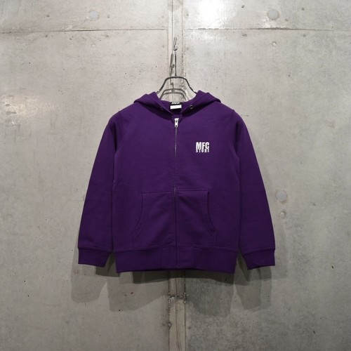 MFC STORE LOGO EMBROIDERY KIDS ZIP HOODED / PURPLE