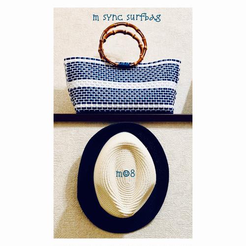 【受注制作】kiyoko_Bamboo handle bag  バンブーバッグ  ビーチバッグ  size S