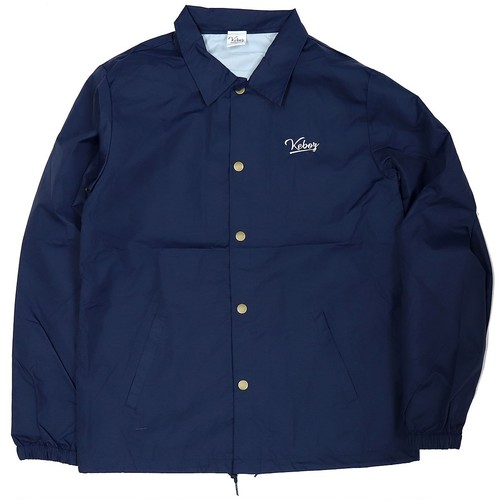 NAVY LOGO COACH JACKET