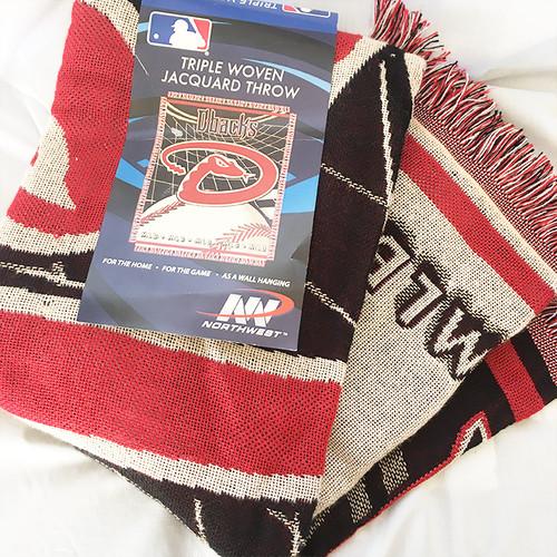 アリゾナ ダイヤモンドバックス ARIZONA DIAMONDBACKS MLB ジャガード スローブランケット 織物 ブランケット アメリカ製 USA製 2893