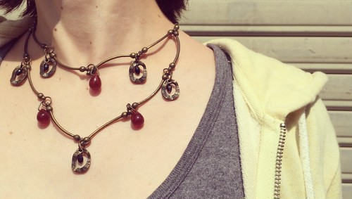 used necklace アンティークネックレス
