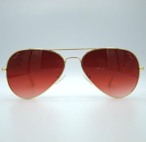 "Shady Spex ""TV Eye"" sunglasses, Gold w/Dark Red Gradient lenses"