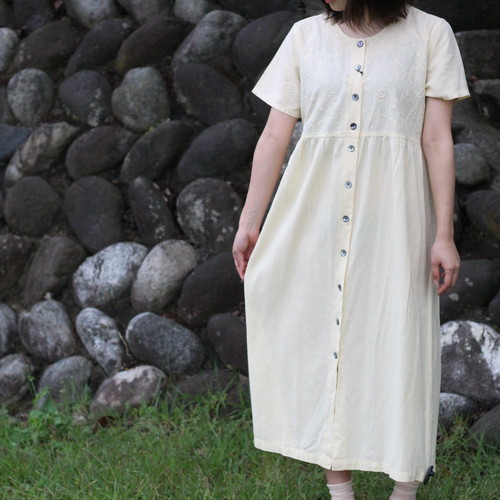 USA VINTAGE COTTON ONE PIECE MADE IN INDIA/アメリカ古着コットンワンピース