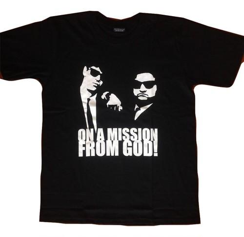 ブルース・ブラザース The Blues Brothers ジョリエット・ジェイク×エルウッド プリントTシャツ