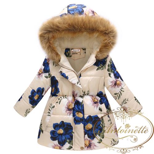 2色 花柄 青 コート おんなのこ ピンク あったかい 服 可愛い リボン 長袖 秋 冬 ワンピース リボン おでかけ フリル