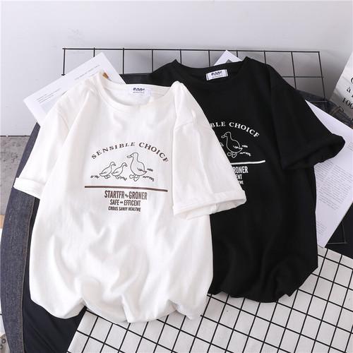 可愛い ゆったり 着痩せ ラウンドネック 半袖 オシャレ Tシャツ・トップス