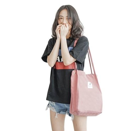 Handbag Shopping Bag Solid Bag Hasp Canvas Shoulder Bag Style Tote ショルダーバッグ トートバッグ ソリッドカラー ハンドバッグ (HMS99-8522319)