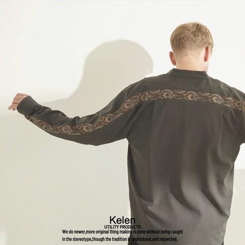 Kelen / ケレン   BACK LINE SHIRTS / バンドカラーシャツ