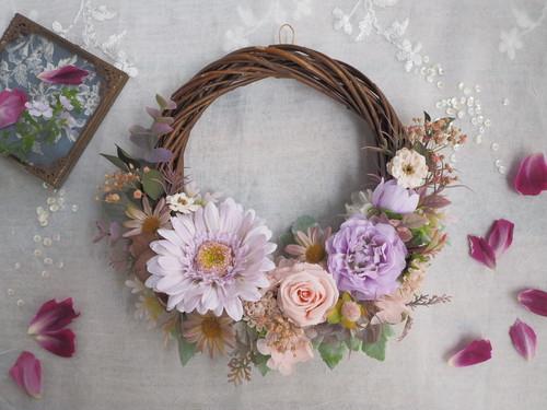 Lune Bonheur antique purple*優しくあたたかい時間*ボタニカルハーフリース*プリザーブドフラワー・お花・ギフト*母の日ギフト*母の日のおくりもの特集*母の日プレゼント*