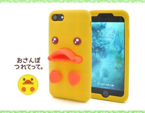 <スマホ・8/7用>iPhone7/8用ベイビーダックシリコンケース