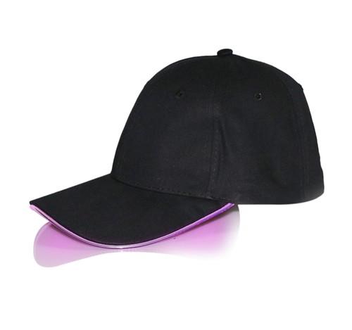 野球帽 グローイング帽子 帽子 LED 光ファイバ照明調節可能なユニセックス 活動デバイス