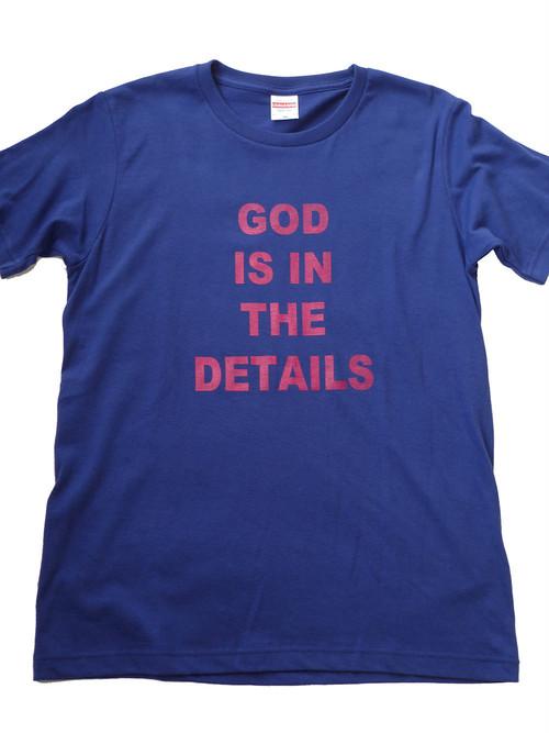 コピー:■GOD IS IN THE DETAILS■オシャレな名言Tシャツ