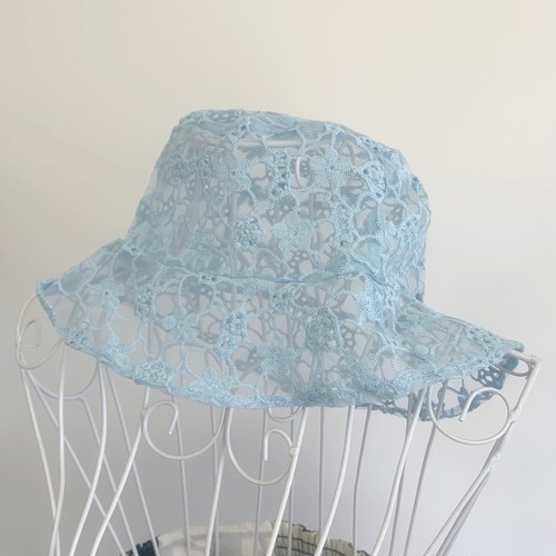 flower race hat(BLUE)