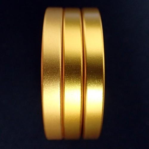 アルミ Cリング マットゴールド 3個セット(幅5mm/高さ6mm)