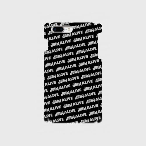 (通販限定)【送料無料】iPhone8Plus_スマホケース ストライプ_ブラック