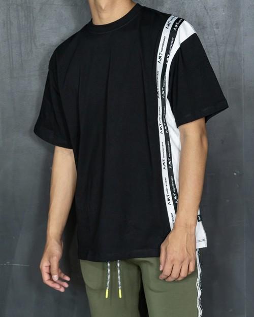 Tape design T-shirt[106ams-cb]