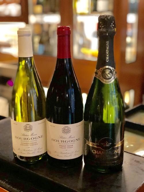 【セット割引】お得な、お家飲み3本セット(計3本)マノワオリジナルのシャンパーニュ、シャルドネ、ピノ・ノワール