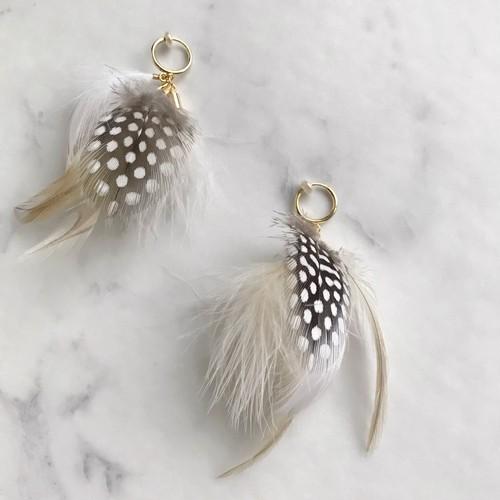 FEATHER fur 両耳用 / white