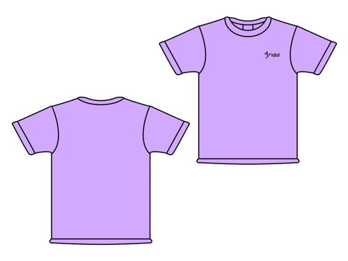 47idol 公式Tシャツ【ライトパープル・ロゴ小】