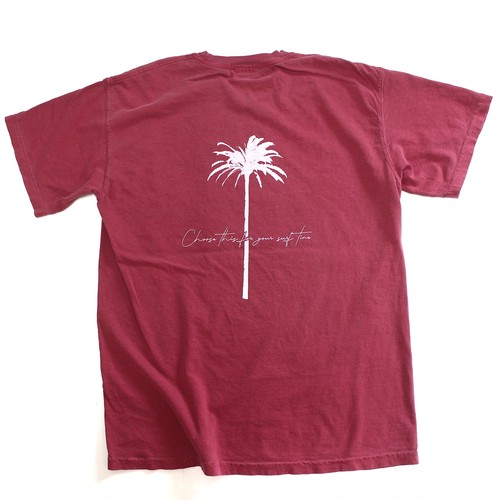 BACK PALM TREE PIGMENT DYED T-SHIRTS