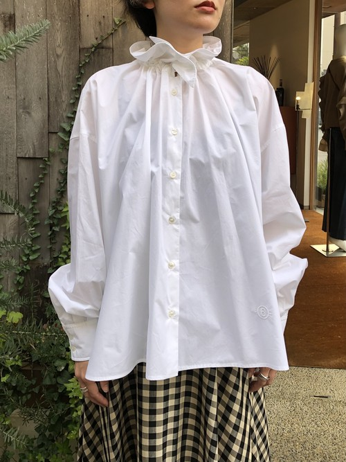 【20AW】MM⑥ エムエムシックス /  frill blouse